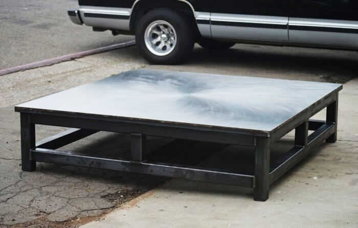 Custom Fabricated Industrial Table in Anaheim