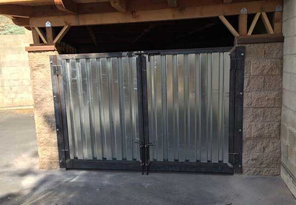 Custom Welded Commercial Trash Enclosure