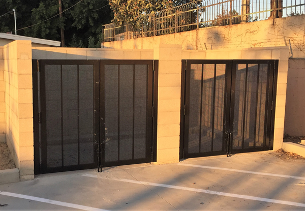 Steel enclosure fabrication & installation, Santa Ana, CA.