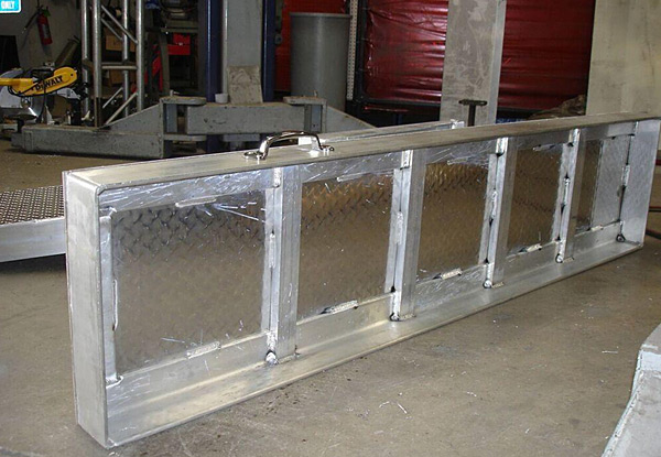 Custom Welded Aluminum Trailer Ramp