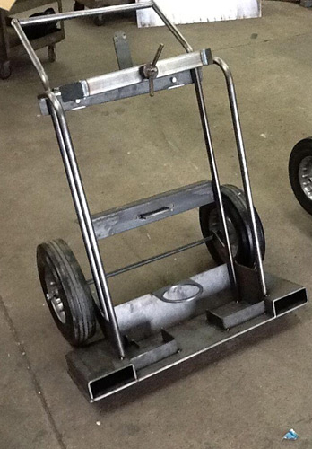 Custom Welded Steel Tank Cart