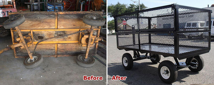 Custom Refurbished Trash Cart in Anaheim