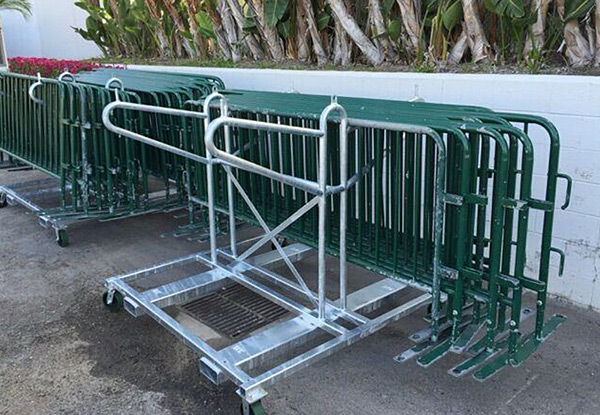 Custom Fabricated Barricade Storage Carts