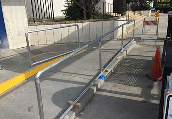 Bus Stop Handrail In Whittier, CA