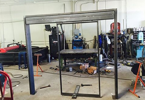 Custom Welded Display Frame in Orange County