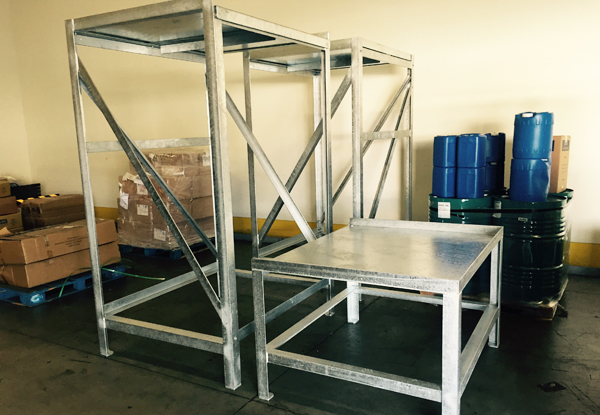 Custom fabricated industrial platform Fullerton, CA.