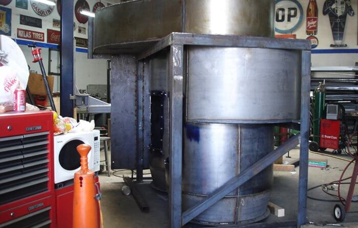 Custom Fabricated Steel Blower System and Trash Container